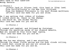 Woody Guthrie song - This Land Is Your ...