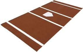 Size Of Home Plate Softball Stance Mat 6x12 With A Home Plate Lines Stance Mats For