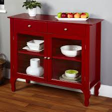 Living Room Buffet Cabinet Living Room Buffet Cabinet Dining Red Wood Glass Hutch