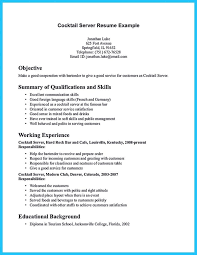 Server Resume Skills Examples Best Server And Bartender Resume Smart