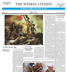 reacting to the past the french revolution from the eyes of  a newspaper designed by students from dr belzer s rttp class