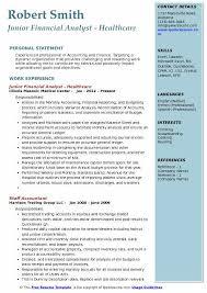Junior Financial Analyst Resume Samples Qwikresume