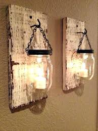 wall candle holders custom made rustic wood wall sconces