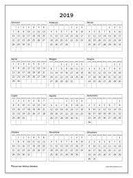 Calendario 2019 36ld Calendario Calendario Stampabili E Stampe
