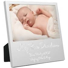 new baby personalised birth details first photo frame zoom