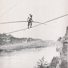 Znalezione obrazy dla zapytania balancing on the rope over the abyss black and white