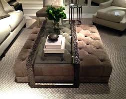 coffee table with ottomans ottoman as coffee table simple round coffee table ottoman diy