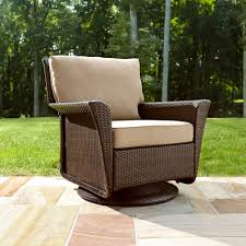 beautiful ty pennington style parkside swivel outdoor chair in tan sears swivel glider patio chairs