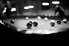 billiards black and white. There Should Be Two Pool Tables At The Place Where Party Is Held. What Billiards Black And White N