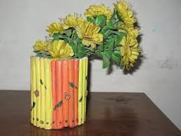 Flower Vase With Paper Paper Crafts Flower Vase Under Fontanacountryinn Com
