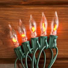Flickering String Lights Outdoor String Lights Flickering Flame String Lights 50 Outdoor C7 Bulbs 50 Ft Green Wire Walmart Com