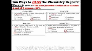 way on how to pass the chemistry regents  way 18 on how to pass the chemistry regents