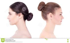 make up and skin care concept side view of beautiful women wit h perfect