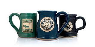 Handcrafted stoneware, made in the usa by artisans at jj potts. Custom Coffee Mug Styles Grey Fox Pottery