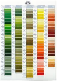 Dmc Color Chart 2018 Printable Dmc Stranded Cotton Embroidery Thread Colour Chart