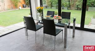 Retro Extending Dining Table Extendable Glass Table Savannah Extendable Glass Dining Table And