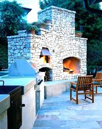 outdoor fireplace with pizza oven plans combination