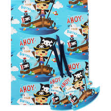 blue pirates birthday gift wrap sheets pack wrapping paper at the works