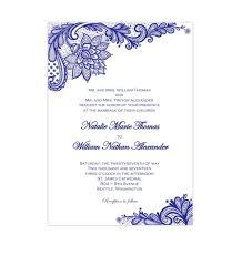 Wedding Template Gorgeous Vintage Lace Wedding Invitation Royal Blue Wedding Template Shop