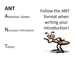 ant tiqa rrc introduction your introduction paragraph is the  ant follow the ant format when writing your introduction a ttention  getter n ecessary