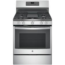GE 5-Burner Freestanding 5-cu ft Self-Cleaning Convection Gas Range (