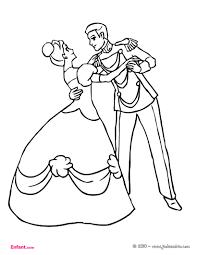 Coloriages Pour Fille La Princesse Et Le Prince