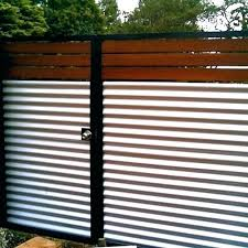sheet metal fence. Contemporary Fence Corrugated Metal Fence Cost The Sheets Combined  With Wood Give A Low In Sheet Metal Fence