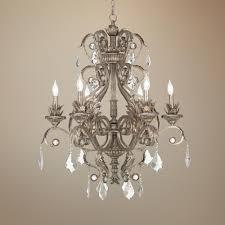kathy ireland 30 wide metallic silver chandelier