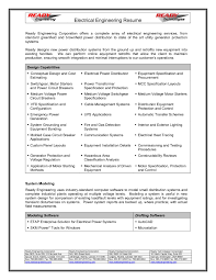 Electrical Engineer Resume Sample Sample Electrical Engineering Resume For Study hashtagbeardme 12