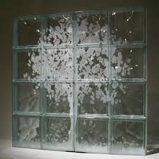 glass block with etchings