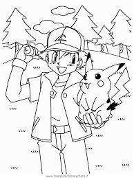 Ash E Pikachu Disegno Da Colorare Pokemon Disegni Da Colorare E