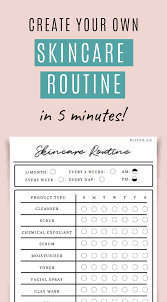Daily Routine Maker Skincare Routine Creator Cute Pastel Printable Guide