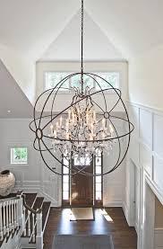 large foyer lantern chandelier lighting ideas light is from restoration hardware foucault