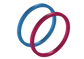 a geometry of two helmholtz coils