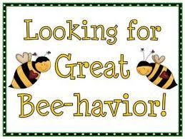 Bee Happy Behavior Clip Chart Behavior Clip Charts