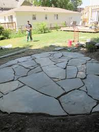 Photo 3 of 4 How To Install A Flagstone Patio With Irregular Stones   DIY  Network Blog: Made +