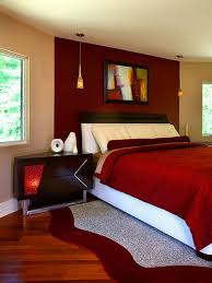 Red Wall Paint Colour Combination With Maroon Comforter For Sexy Bedroom  Ideas