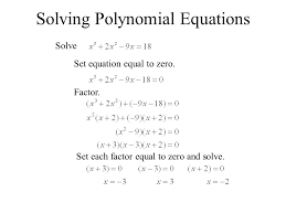 6 4 factoring and solving polynomial equations sum or