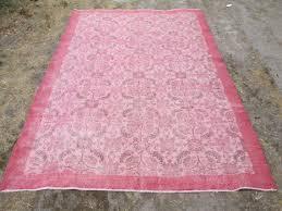 overdyed rug pale pink overdyed rug vintage oushak rug turkish