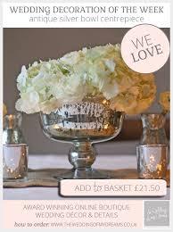 antique silver bowl wedding centrepiece