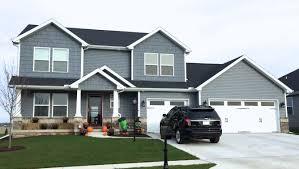 House With Black Trim Mastic English Wedgewood Blue Siding Variform Handsplit Wedgewood