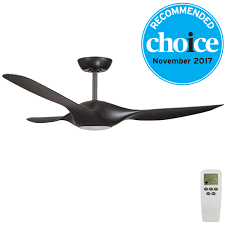origin dc ceiling fan with remote led light by fanco black 56