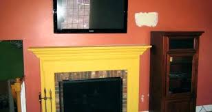 elegant mounting tv above brick fireplace for mount above fireplace mounted over fireplace mount above fireplace
