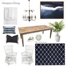 Coastal Hamptons Dining Room Mood Board Style Sourcebook