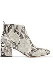 gray marc jacobs boots womens snake effect leather ankle boots