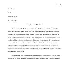 amy tan essay twenty hueandi co amy tan essay