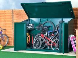 diy outdoor bike storage solutions best hooks racks and sheds cycling access shed