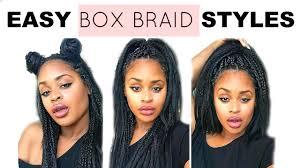 Box Braid Hair Style super quick & easy box braid hair styles natural hair youtube 1837 by wearticles.com