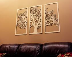 >tree of life wall art pinterest 3d tree wood wall art and wood  3d tree of life 3 panel wood wall art beautiful living room decor by skylineworkshop
