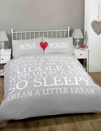 made with love mine and yours love heart duvet cover quilt bedding set white black double co uk kitchen home